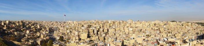 Panorama der Stadt von Amman, Jordanien, Mittlere Osten lizenzfreies stockfoto