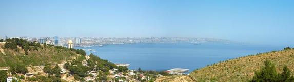 Panorama der Stadt von Baku Stockfotos