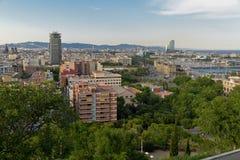 Panorama der Stadt von Barcelona Spanien Lizenzfreie Stockfotos