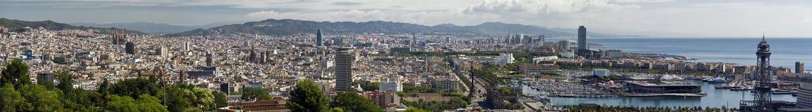 Panorama der Stadt von Barcelona Spanien Lizenzfreie Stockfotografie