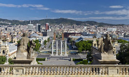 Panorama der Stadt von Barcelona Spanien Stockfotos