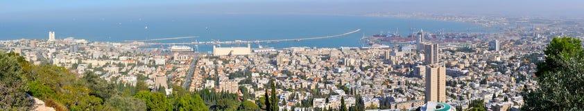 Panorama der Stadt von Haifa. Israel lizenzfreie stockfotografie