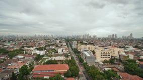 Panorama der Stadt von Jakarta im regnerischen Wetter stock footage