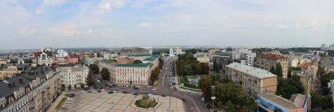 Panorama der Stadt von Kiew stockfotos