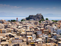 Panorama der Stadt von Korfu Lizenzfreie Stockbilder