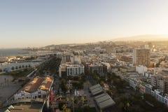 Panorama der Stadt von Las Palmas de Gran Canaria stockfotografie