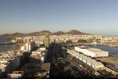 Panorama der Stadt von Las Palmas de Gran Canaria lizenzfreie stockfotografie