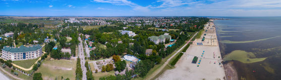 Panorama der Stadt von Skadovsk Lizenzfreie Stockfotografie