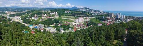 Panorama der Stadt von Sochi Stockfotografie