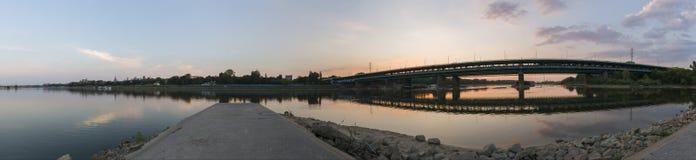 Panorama der Warschau-Stadt Lizenzfreie Stockfotos