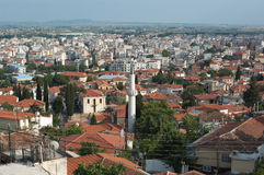 Panorama der Xanthi-Stadt, Griechenland Lizenzfreies Stockfoto