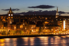 Panorama of Derry. Derry, Northern Ireland, United Kingdom Royalty Free Stock Photos