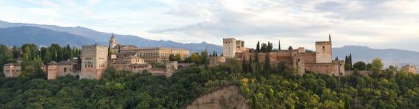 Panorama des Alhambra stockbilder