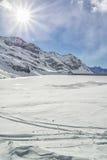 Panorama des alpes Image libre de droits