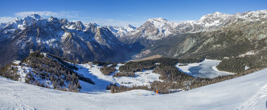 Panorama des alpes Image stock