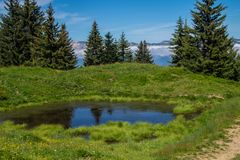 Mountainous of belledone,isere,france Stock Images