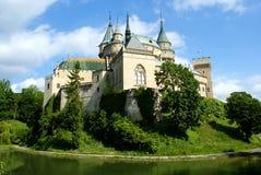Panorama des alten Schlosses Bojnice Stockfotografie