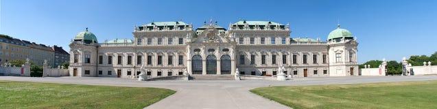 Panorama des Belvedere-Schlosses in Wien stockbilder