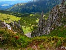 Panorama des Carpathiens Photos stock