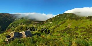 Panorama des Carpathiens Photo stock