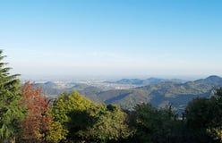 Panorama des collines d'Euganean Image libre de droits