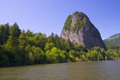 Panorama des Columbia Rivers mit Green River Wasser mit einem lig Lizenzfreie Stockbilder