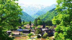 Panorama des Dorfs in den grünen Shanghai-mountain's an einem schönen Sommertag, China Abbildung lizenzfreie abbildung