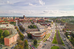 Panorama des Gdansk-Stadtzentrums in der Sommerzeit Stockfotos
