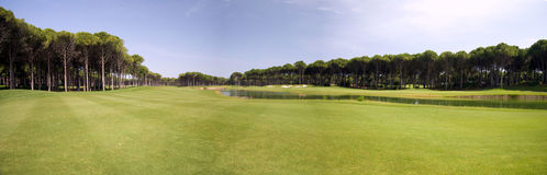 Panorama des Golfclubs Stockbilder