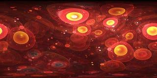 Panorama 360 des Grads rote Zell, equirectangular Projektion, Umweltkarte Kugelförmiges Panorama HDRI Lizenzfreies Stockbild
