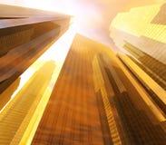 Panorama des gratte-ciel des gratte-ciel Photo libre de droits