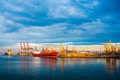 Panorama des Hafens Lizenzfreies Stockbild