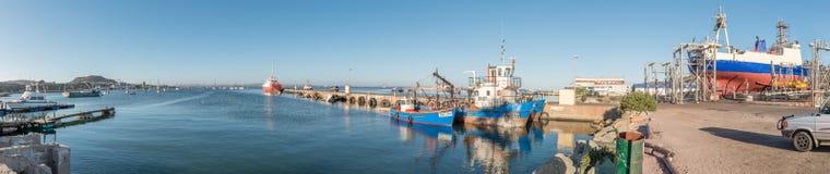 Panorama des Hafens in Saldanha-Bucht Lizenzfreie Stockfotos