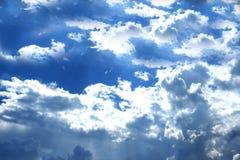 Panorama des Hintergrundes des blauen Himmels Stockbild