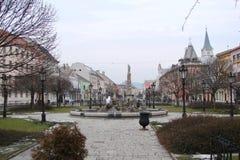 Panorama des historischen Teils des zentralen Bezirkes der Stadt von Kosice in Slowakei lizenzfreie stockbilder
