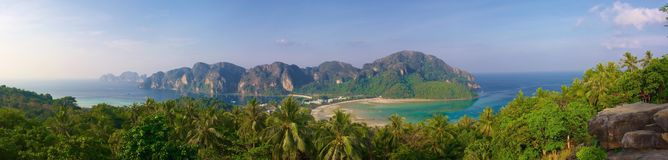 Panorama des Insel Phiphis Stockfoto