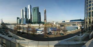 Panorama des internationalen Geschäftszentrums Stockbild