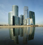 Panorama des internationalen Geschäftszentrums Stockfotografie