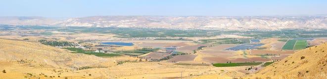 Panorama des Jordan Valley lizenzfreies stockbild