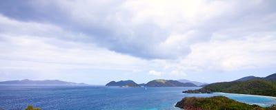 Panorama des Kabelschachtes Stockbild