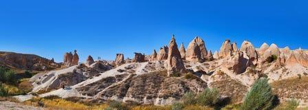 Panorama des Kamelfelsens bei Cappadocia die Türkei Lizenzfreies Stockfoto