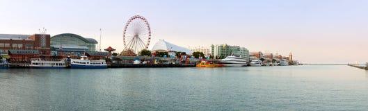 Panorama des Marine-Piers in Chicago Stockbild