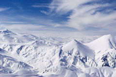Panorama des montagnes de Palandoken Photos libres de droits