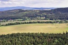 Panorama des montagnes de Sudety Photographie stock libre de droits