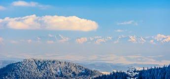 Panorama des montagnes de Tatra en Pologne Images stock