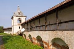 Panorama des murs et des tours du monastère de Goritsky Pereslavl-Zalessky Russie Photo libre de droits