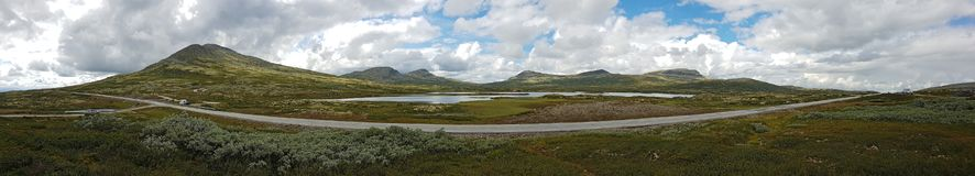 Panorama des Nationalparks Rondane stockfotos