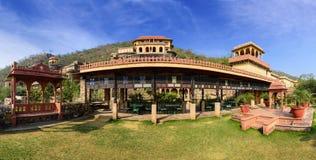 Panorama des Neemrana-Fort-Palastes, Rajasthan, Indien Lizenzfreies Stockfoto