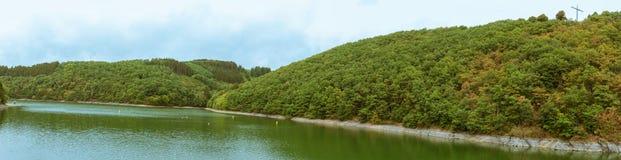 Panorama des oberen Sauer Sees lizenzfreies stockfoto