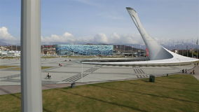 Panorama des Olympiaparks in Sochi stock video